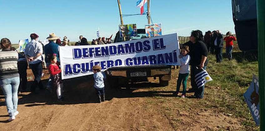 El Acuífero Guaraní se ve en peligro de contaminación por las perforaciones que está haciendo Uruguay