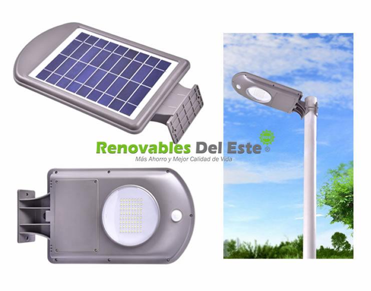 Luz solar led 5w todo en uno renovables del este - Luz jardin solar ...