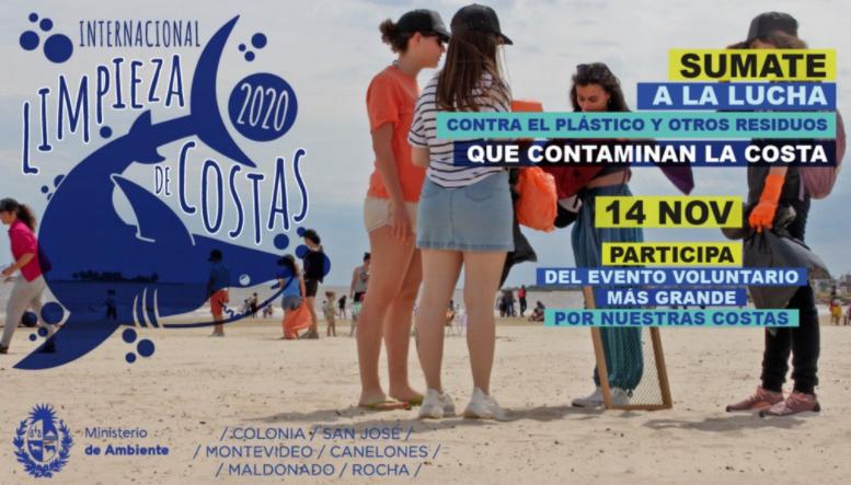 Jornada de limpieza de playas en el Uruguay